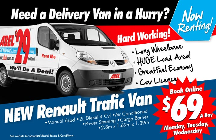 New Renault Traffic Van From $69 a day