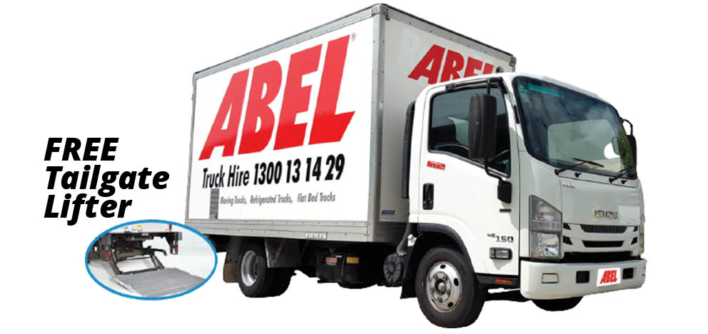 Brisbane pantech truck hire with tail gate lifter